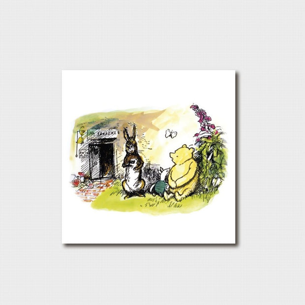 Small Winnie the Pooh - Pooh and Rabbit Card