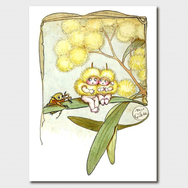 'Wattle Babies' Greeting Card