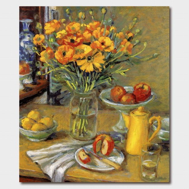 Margaret Olley Ranunculus and Yellow Jug Card