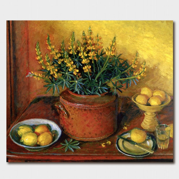 Margaret Olley Yellow Lupins Card