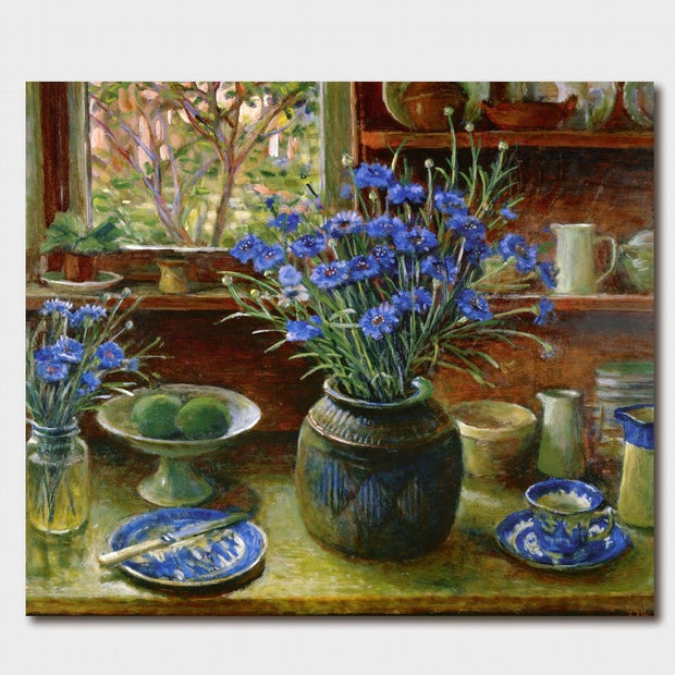 Margaret Olley Cornflowers Card