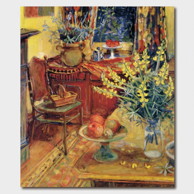 Margaret Olley Yellow Lupins in Interior Card
