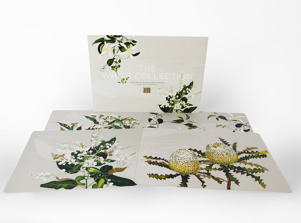 Australian Made White Collection Dining Placemats by Bell Art