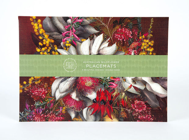 Australian Made Wildflowers Placemats by Bell Art