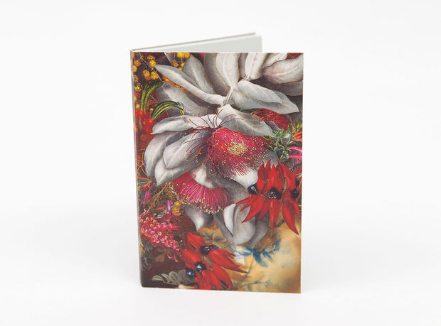 Wildflower Notepad - Crimson Gold by Bell Art