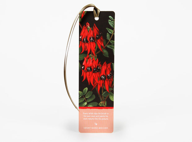 Wildflower Bookmark - Sturt Pea
