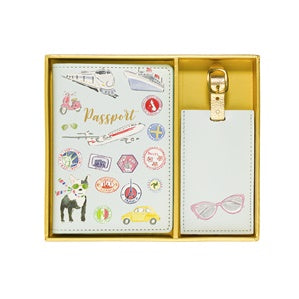 Beth Briggs Passport & Luggage Tag Set