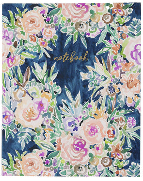 Barbarian Floral Desk Size Soft Cover Notebook