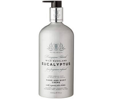 Eucalyptus Hand & Body Crème 500ml by Maine Beach
