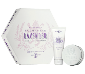 Tasmanian Lavender Flat Pack Duo (Hand & Nail Crème/Body Mousse) by Maine Beach