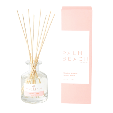White Rose & Jasmine Mini Fragrance Diffuser by the Palm Beach Collection