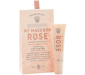 Mt Macedon Rose Lip Lustre 15ml by Maine Beach