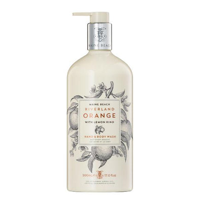 Maine Beach Riverland Orange (With Lemon Rind) Hand & Body Wash 500ml