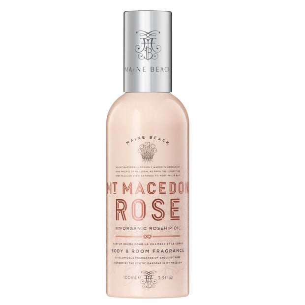 Maine Beach Mt Macedon Rose Room & Body Spray 100ml