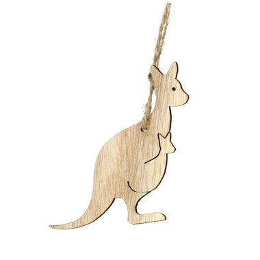 Timber Hanging Kangaroo