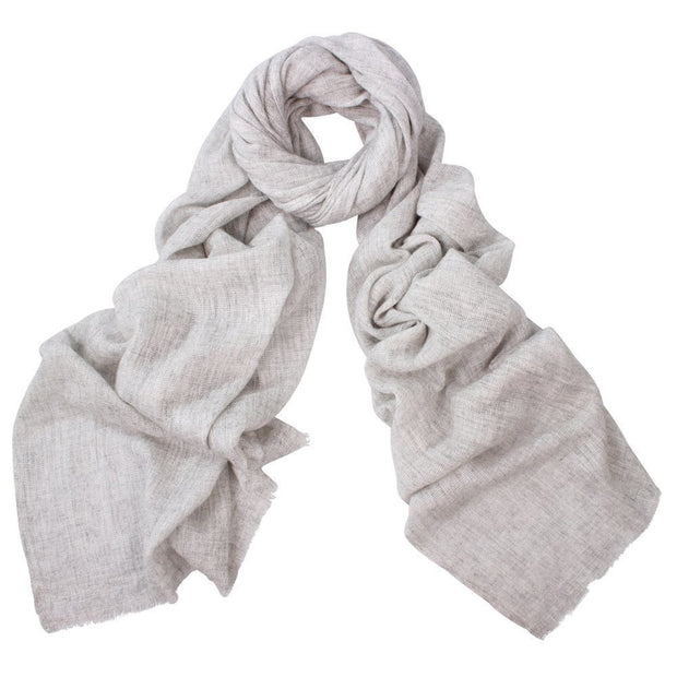 Austin Cashmere Mix Wrap - Silver by D-Lux