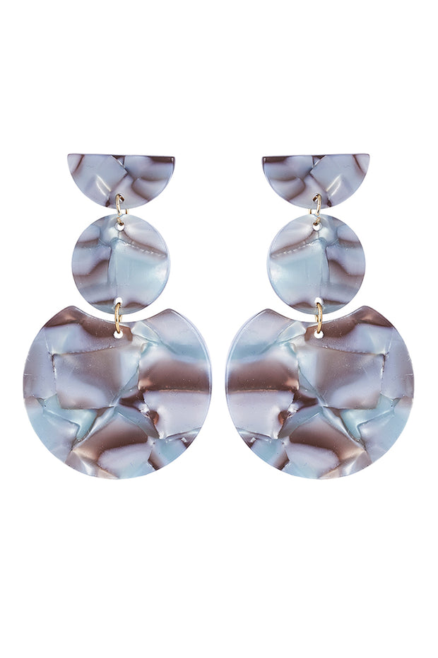 Mendoza Tier Earring - Grey Marble by Eb & Ive