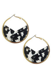 Barossa Hoop Earrings - Ivory Marble