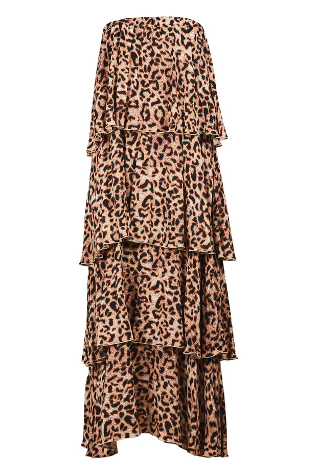 Eb & Ive Savannah Overlay Dress - Leopard
