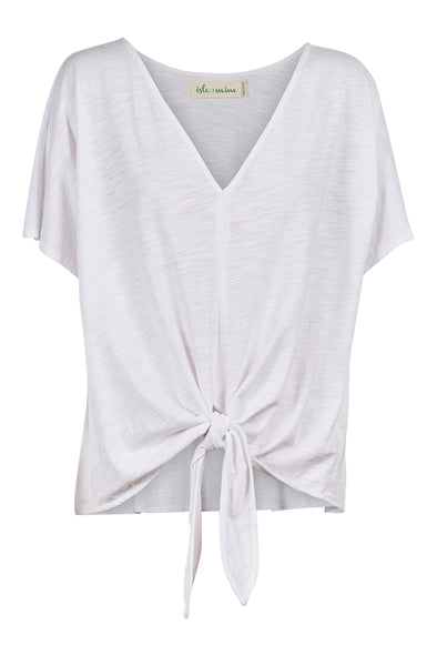 Eb & Ive Isle of Mine Cote D'Azur Tee - White
