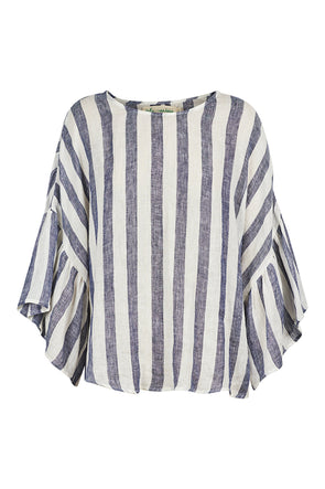 Eb & Ive St Tropez Top - Navy & White