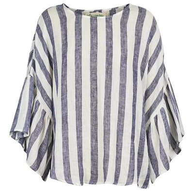 Eb & Ive Isle of Mine St Tropez Top - Navy and White