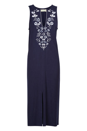 Toulon Dress - Navy/White - Medium/Large