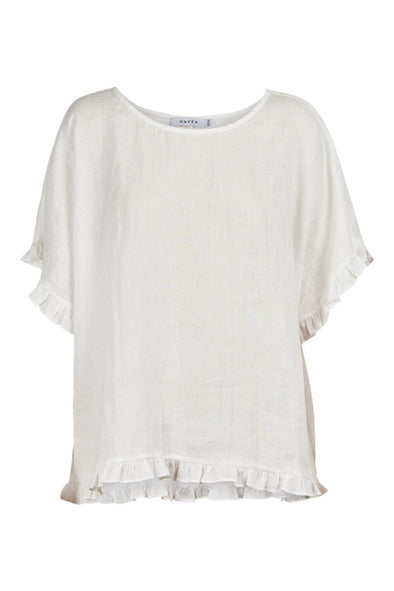 Eb & Ive Martinique Frill Top - Salt - One Size