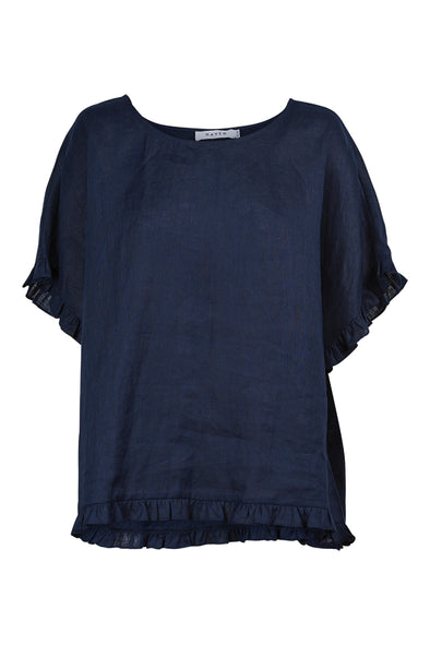 Martinique Frill Top - Navy - One Size