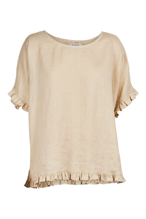 Eb & Ive Martinique Frill Top - Sand - One Size