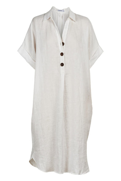 Martinique Shirt Dress - Salt - One Size