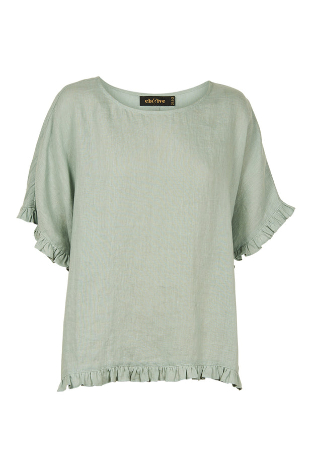 Eb & Ive Jacinda Top - Sage