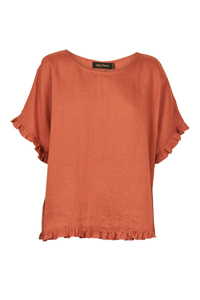 Eb & Ive Jacinda Top - Terracotta