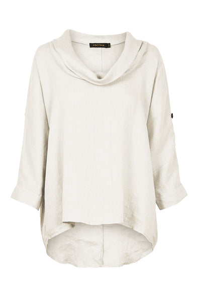 Eb & Ive Jacinda Cowl Top - White