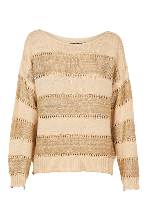 Eb & Ive Coco Lurex Knit - Ivory
