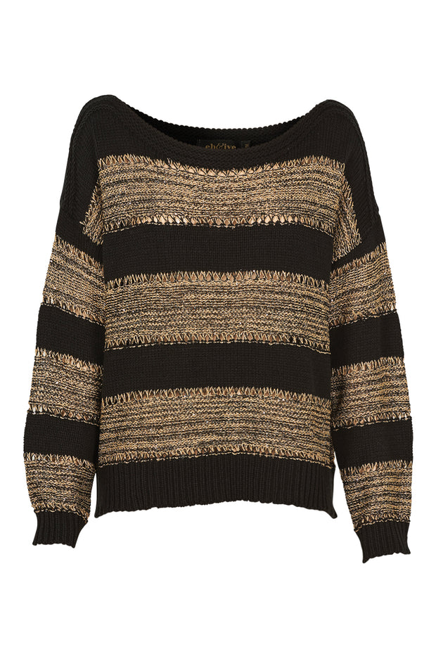 Eb & Ive Coco Lurex Knit - Black