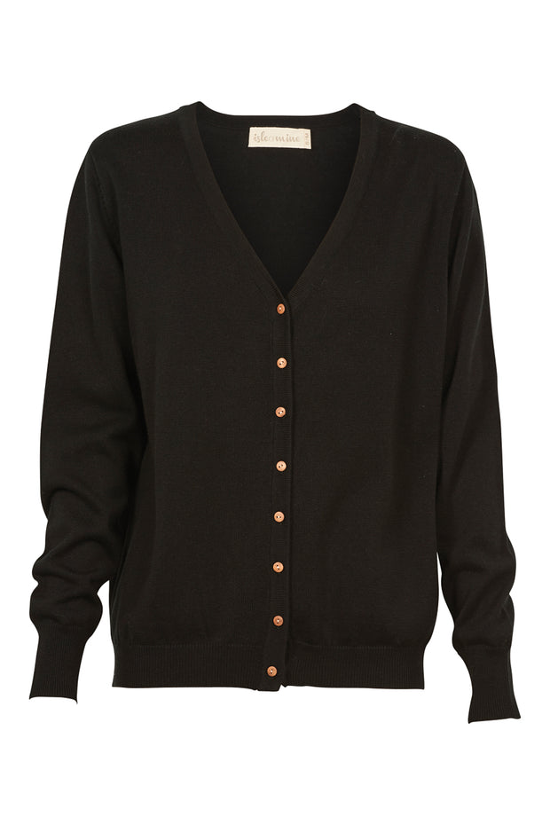 Isle of Mine Traveller Cardigan - Charcoal