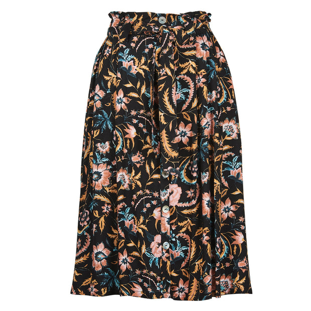 Eb & Ive Siela Skirt - Black Botanical