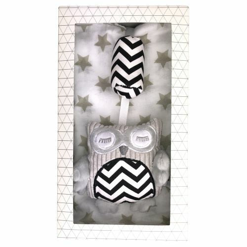 ES Kids Gift Box - Grey Chime and Muslin Wrap