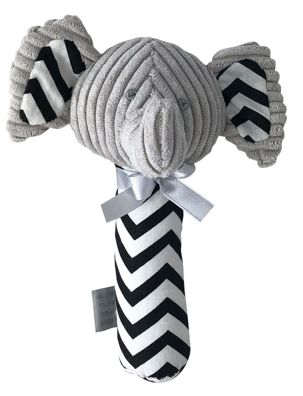 ES Kids Elephant Rattle Stick - Grey