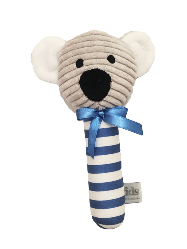 ES Kids Koala Stick Rattle - Blue