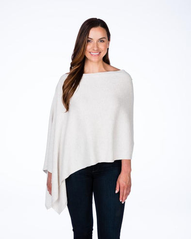 Cotton and Cashmere Trade Wind Classic Topper in colour mineral