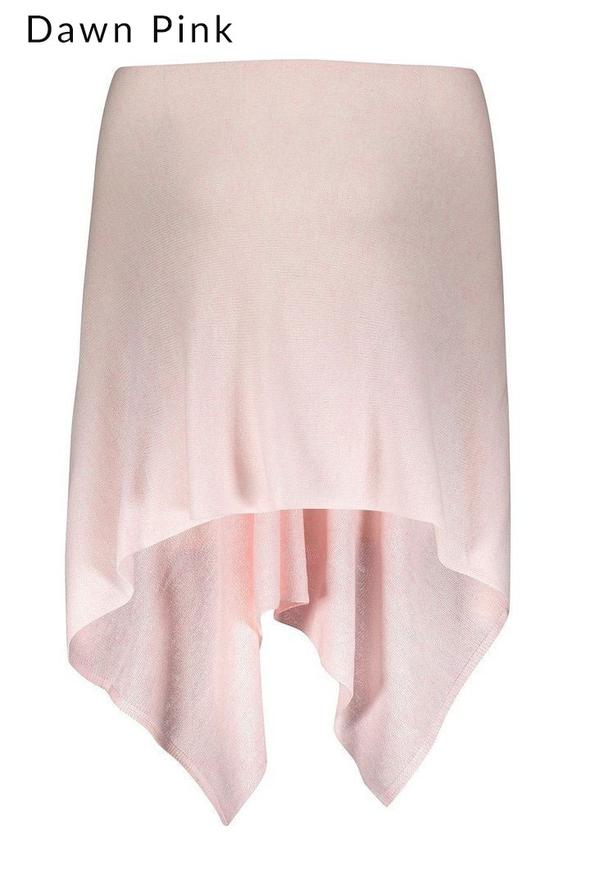 100% Cashmere Classic Topper in colour dawn pink