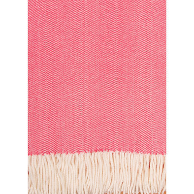 The Adirondack Herringbone Woven Throw - Coral Island