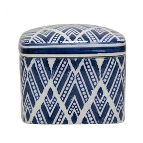 Blue Aztec Jewellery Box