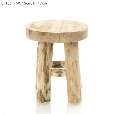 Natural Teak Stool 17cm