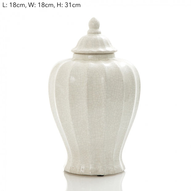 Vanilija Fluted Jar Large