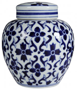 Blue & White Aline Jar
