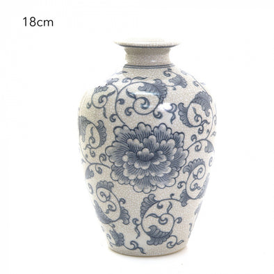 Blue & White Imperial Vase - 18cm