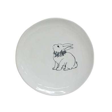 Engraved Large Rabbit Plate